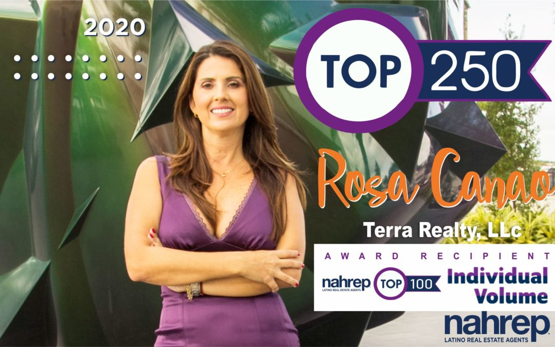 Recognized by Nahrep as Top 100 Individual Sales Volume